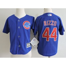 MLB Chicago Cubs 44 Anthony Rizzo Blue Cool Base Toddler Jersey
