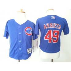 MLB Chicago Cubs 49 Jake Arrieta Blue Cool Base Toddler Jersey