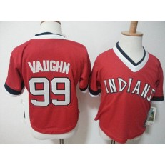 MLB Cleveland Indians 99 Rick Vaughn Red Pullover Toddler Jersey