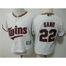 MLB Minnesota Twins 22 Miguel Sano White Home Cool Base Toddler Jersey