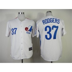 MLB Montreal Expos 37 Steve Rodgers 1982 White Throwback Men Jersey