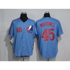 MLB Montreal Expos 45 Pedro Martinez 1982 Royal Blue Majestic Cool Base Cooperstown Collection Player Men Jersey