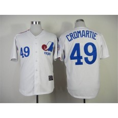 MLB Montreal Expos 49 Warren Cromartie 1982 White Throwback Men Jersey
