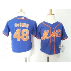 MLB New York Mets 48 Jacob DeGrom Blue Alternate Home Cool Base Toddler Jersey
