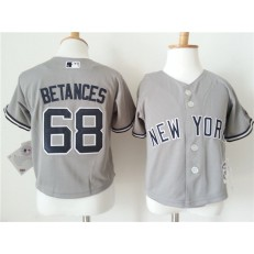 MLB New York Yankees 68 Dellin Betances Grey Cool Base Toddler Jersey