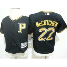 MLB Pittsburgh Pirates 22 Andrew McCutchen Black Cool Base Toddler Jersey