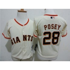 MLB San Francisco Giants 28 Buster Posey Cream Cool Base Toddler Jersey