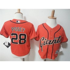 MLB San Francisco Giants 28 Buster Posey Orange Cool Base Toddler Jersey