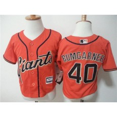 MLB San Francisco Giants 40 Madison Bumgarner Orange Cool Base Toddler Jersey
