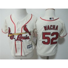 MLB St. Louis Cardinals 52 Michael Wacha Cream Cool Base Toddler Jersey