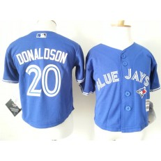 MLB Toronto Blue Jays 20 Josh Donaldson Blue Cool Base Toddler Jersey