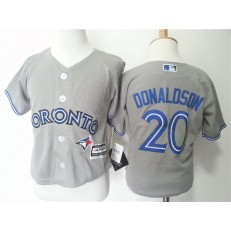 MLB Toronto Blue Jays 20 Josh Donaldson Grey Cool Base Toddler Jersey