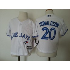 MLB Toronto Blue Jays 20 Josh Donaldson White Cool Base Toddler Jersey