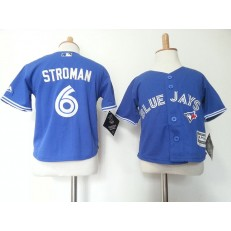 MLB Toronto Blue Jays 6 Marcus Stroman Blue Cool Base Toddler Jersey