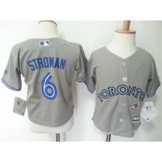 MLB Toronto Blue Jays 6 Marcus Stroman Grey Cool Base Toddler Jersey