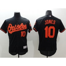 MLB Baltimore Orioles 10 Adam Jones Black Flexbase Authentic Collection Stitched Men Jersey