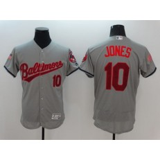 MLB Baltimore Orioles 10 Adam Jones Gray Fashion Stars & Stripes 2016 Flexbase Independence Day Men Jersey