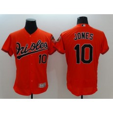 MLB Baltimore Orioles 10 Adam Jones Orange Flexbase Authentic Collection Stitched Men Jersey