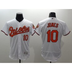 MLB Baltimore Orioles 10 Adam Jones White Flexbase Authentic Collection Stitched Men Jersey