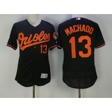 MLB Baltimore Orioles 13 Manny Machado Black Flexbase Authentic Collection Stitched Men Jersey