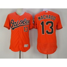 MLB Baltimore Orioles 13 Manny Machado Orange Flexbase Men Jersey