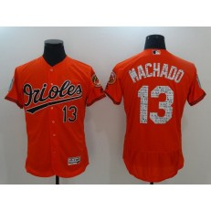 MLB Baltimore Orioles 13 Manny Machado Retired Orange 2017 Spring Training Stitched Majestic Flex Base Men Jersey