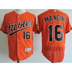 MLB Baltimore Orioles 16 Trey Mancini Orange Flexbase Men Jersey