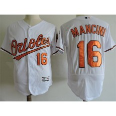 MLB Baltimore Orioles 16 Trey Mancini White Flexbase Men Jersey