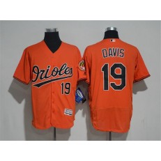 MLB Baltimore Orioles 19 Chris Davis Orange Flexbase Authentic Collection Stitched Men Jersey