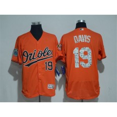 MLB Baltimore Orioles 19 Chris Davis Retired Orange 2017 Spring Training Stitched Majestic Flex Base Men Jersey