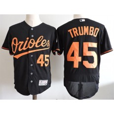 MLB Baltimore Orioles 45 Mark Trumbo Black Flexbase Baseball Men Jersey