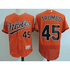 MLB Baltimore Orioles 45 Mark Trumbo Orange Flexbase Baseball Men Jersey