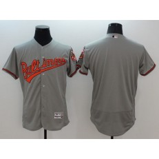 MLB Baltimore Orioles Blank Grey Flexbase Authentic Collection Stitched Men Jersey