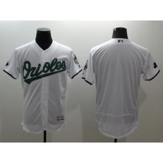 MLB Baltimore Orioles Blank White Celtic Flexbase Authentic Collection Stitched Men Jersey
