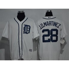 MLB Detroit Tigers 28 J. D. Martinez Whtie Home Stitched Baseball Men Jersey