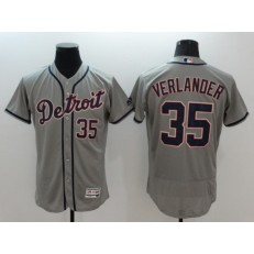 MLB Detroit Tigers 35 Justin Verlander Gray Road 2016 Flexbase Majestic Baseball Men Jersey
