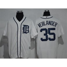 MLB Detroit Tigers 35 Justin Verlander White Home Stitched Baseball Men Jersey