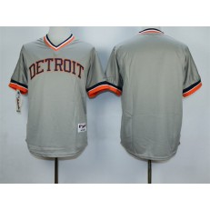 MLB Detroit Tigers Blank 1984 Gray Pullover Men Jersey