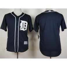MLB Detroit Tigers Blank Alternate Navy Blue 2015 Cool Base Men Jersey