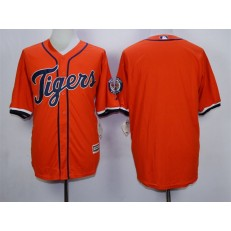 MLB Detroit Tigers Blank Alternate Orange 2015 Cool Base Men Jersey