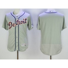 MLB Detroit Tigers Blank Gray Road 2016 Flexbase Majestic Baseball Men Jersey