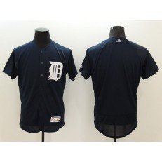 MLB Detroit Tigers Blank Navy Blue 2016 Flexbase Majestic Baseball Men Jersey