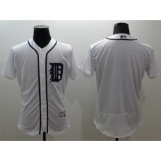 MLB Detroit Tigers Blank White Flexbase Authentic Collection Stitched Men Jersey