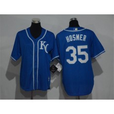 MLB Kansas City Royals 35 Eric Hosmer Navy Blue KC Stitched Majestic Cool Base Men Jersey
