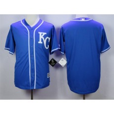 MLB Kansas City Royals Blank Blue KC New Cool Base Men Jersey