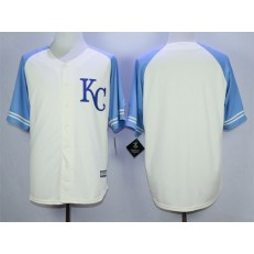 MLB Kansas City Royals Blank Cream New Cool Base Men Jersey