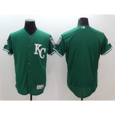 MLB Kansas City Royals Blank Green 2016 St. Patrick's Day Flexbase Majestic Baseball Men Jersey