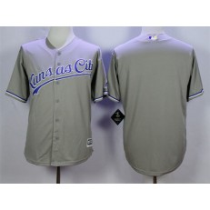 MLB Kansas City Royals Blank Grey New Cool Base Men Jersey