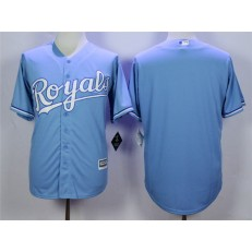 MLB Kansas City Royals Blank Light Blue New Cool Base Men Jersey