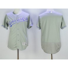 MLB Kansas City Royals Blank Retired Gray Road 2016 Majestic Baseball JerseyProgram FlexBase Men Jersey